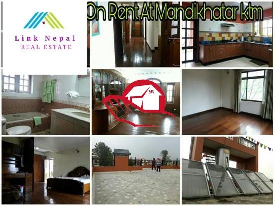 Bungalow on rent at mandikhatar kathmandu